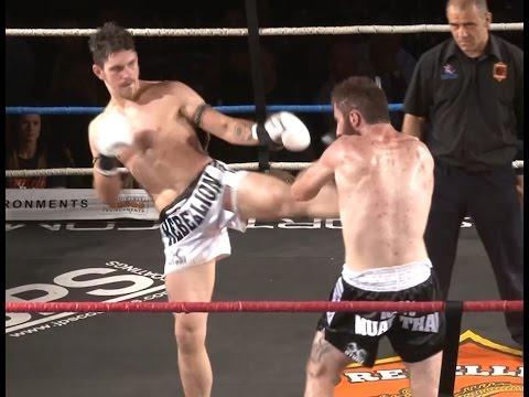 Muay Thai Fight - McCulskey Vs McKenna, Rebellion Muay Thai, Melbourne- 28th November 2015