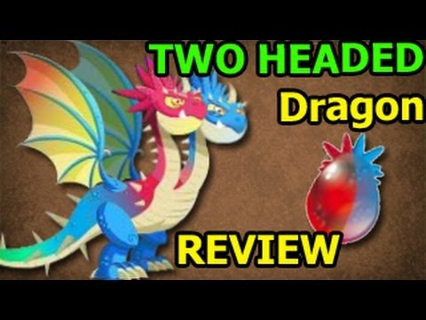 TWO HEADED DRAGON Dragon City Egg and Level Up 7 Deus Vault Formula