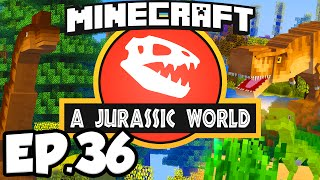 Jurassic World: Minecraft Modded Survival Ep.36 - DINOSAURS AQUARIUM!!! (Rexxit Modpack)