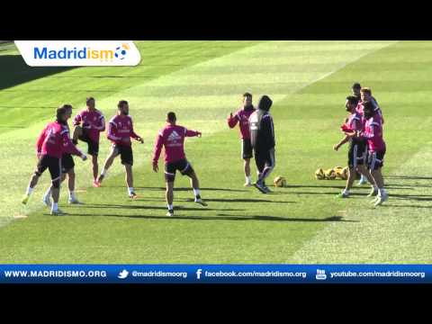 Real Madrid training ahead of Cordoba