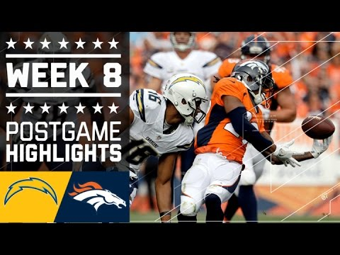 Chargers Vs Broncos Nfl Week 8 Game Highlights