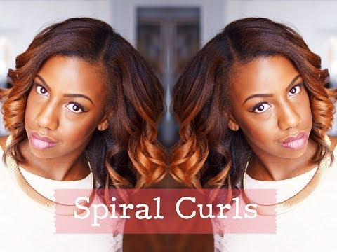 Styling Straight Hair: Spiral Curls