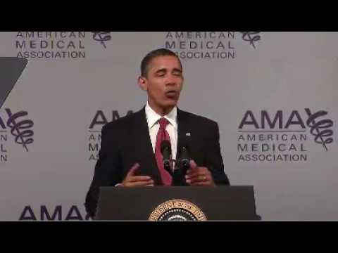 Obama Proposes Sweeping Changes In Health Care To AMA