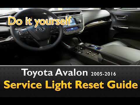 Toyota Avalon Service Maintenance Light Oil Life Reset 2005-2016