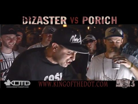 KOTD - Rap Battle - Dizaster vs poRICH (Title Match) Music Videos