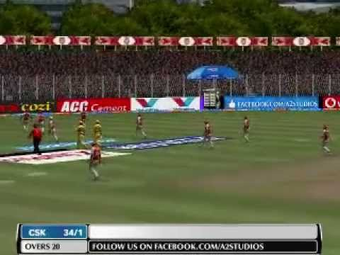 Ipl 2014: Chennai Super Kings Vs Kings Xi Punjab Highlights Game (ea Cricket 07) video