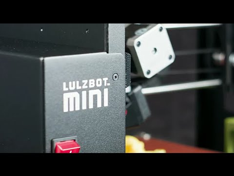 Preview image for LulzBot Mini Desktop 3D Printer in Action video