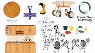 How to build a rotating lazy susan