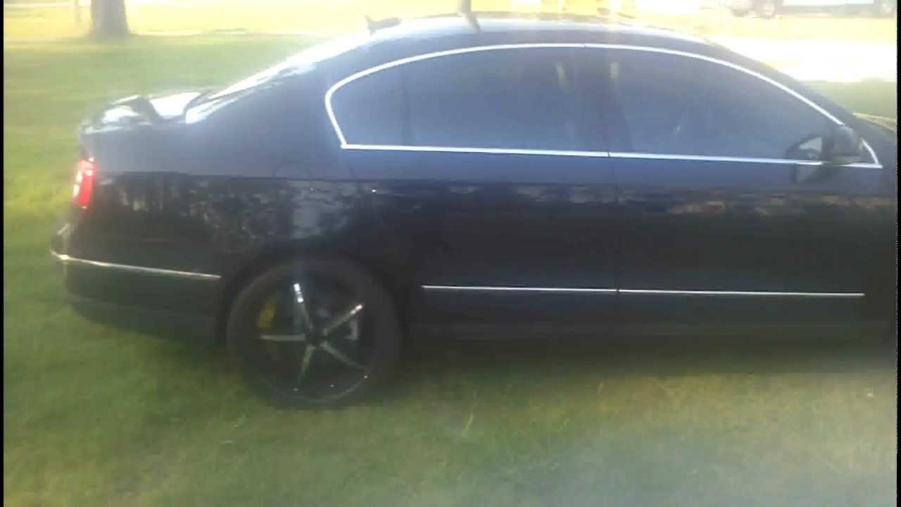 Vw Volkswagen passat 2.0t Flowmaster no res 20 inch rims - YouTube