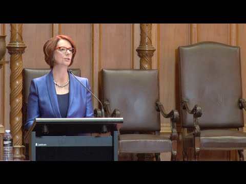 Towards Universal Education presented by Professor Julia Gillard