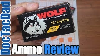 (Epic Fail?) Wolf Match Target .22LR - 100 Yard - Ammo Review