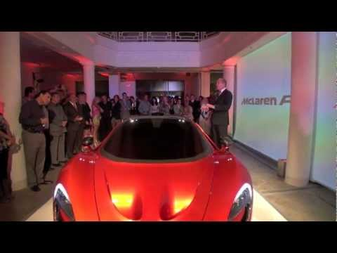 McLaren P1 unveiling by Ron Dennis in Miami