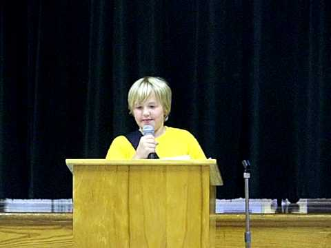 Winning Student Council Speech - Used PropsThis is the video of my son ...