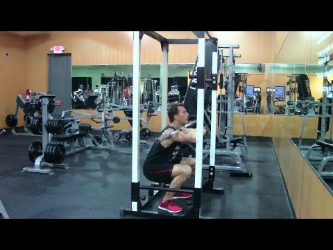 Bodybuilding Front Squat - HASfit Bodybuilding Leg Exercise Demonstration - Front Squat Form