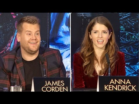 Into The Woods Press Conference - Anna Kendrick, James Corden, Rob Marshall