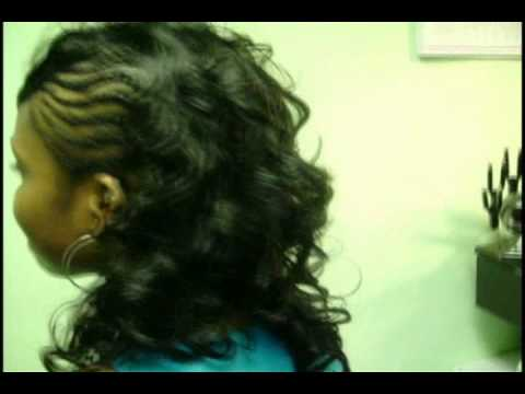 Braids On 1 Side Curls On The Other Youtube