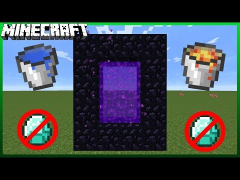 How To Make a Nether Portal without a Diamond Pickaxe! (Any version) (2018)