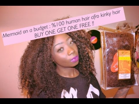 Mermaid On A Budget  %100 Human Hair For Loc Extensions BUY ONE GET ONE FREE