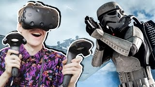 AWESOME STAR WARS VR EXPERIENCE! | Battle Test: Nissan Rogue 360° (HTC Vive Gameplay)