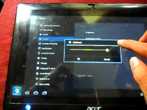 Acer Iconia Tab W500 Windows 8 + Android 3.2 dual boot