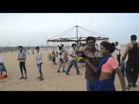Sunday At Marina Beach In Chennai video