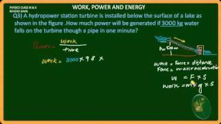 Numerical 3-Work Power and Energy
