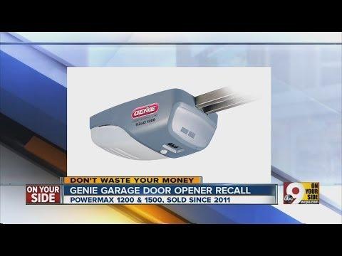Genie garage door opener recall