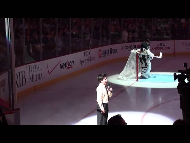 Pittsburgh Penguins National Anthem Shane Treloar 12/2013