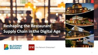 Reshaping the Restaurant Supply Chain in the Digital Age