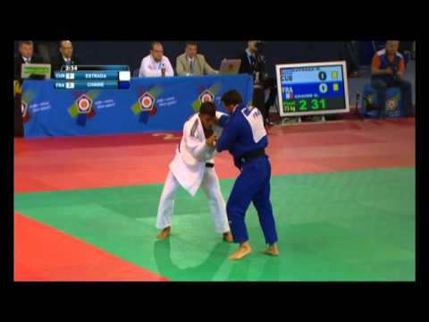 Дзюдо Открытый кубок Европы 2015 Magdiel ESTRADA Cuba vs Guillaume CHAINE France Belarus Minsk