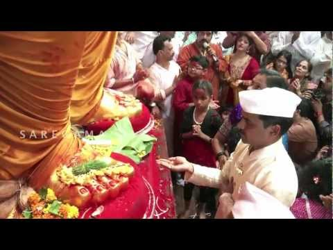 Lalbaugcha Raja Exclusive Aarti - Big B & Shankar Mahadevan video