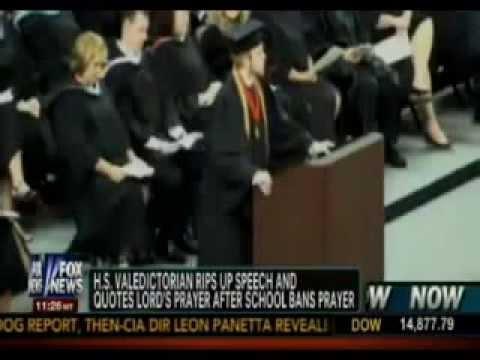 Roy Costner IV Rips up Speech, Recites Lord's Prayer at Liberty High School