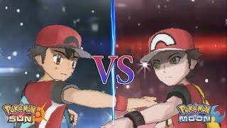 Pokemon Sun And Moon: Champion Ash Vs Red (Ash's Greninja Sweep)