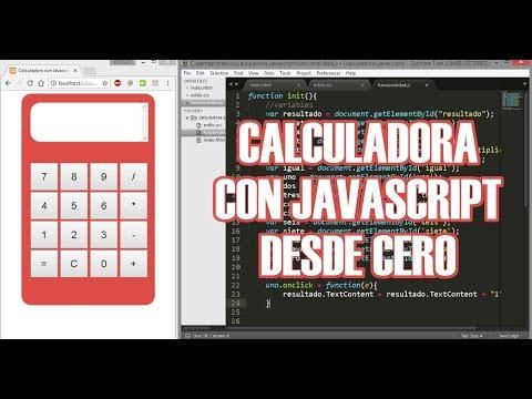 Calculadora con Javascript, Html y CSS desde Cero