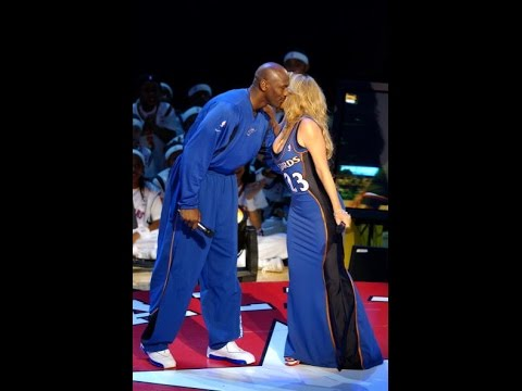 Mariah Carey Performes Hero, Mj (age 39) Almost Cries  2003 All-star Half-time Break video