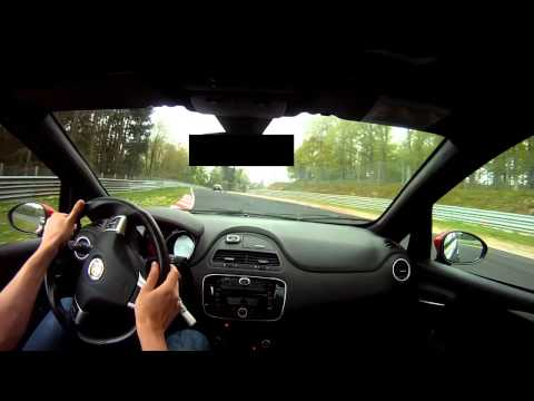 ABARTH PUNTO EVO Nürburgring Nordschleife Very First Time Ever!