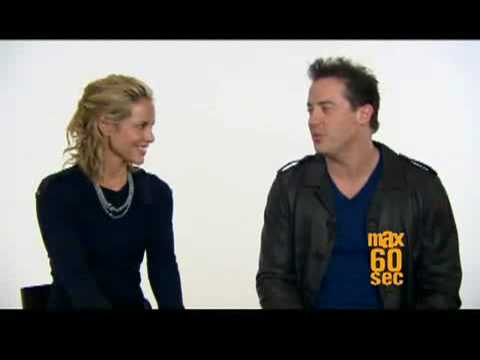 Q&A - 60 secs with Maria Bello (and Brendan Fraser)