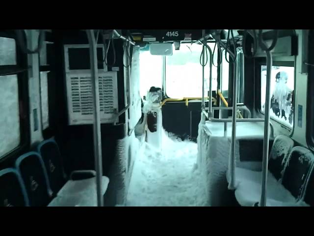 Chicago Blizzard 2011 - Abandoned Bus on Lake Shore Drive