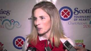2011 Scotties Tournament of Hearts Draw 4 Media Scrum