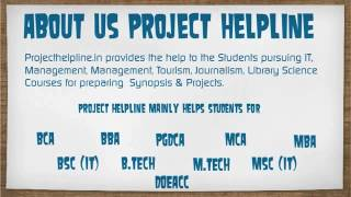 BSC IT Synopsis and Projects Presentation