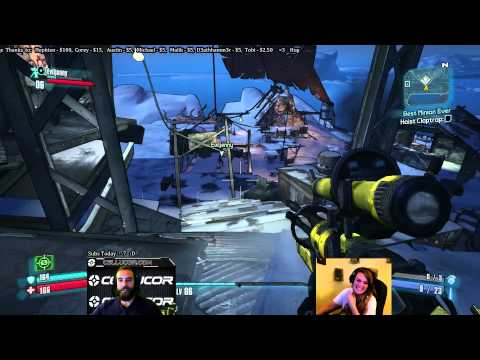 Bajheera - BORDERLANDS 2 w/ Jenny (Part 2): Fighting Captain Flynt! :O