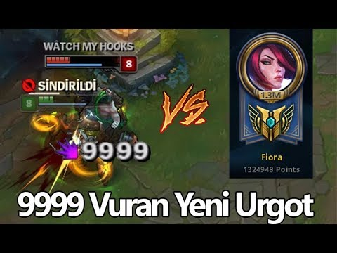 1.3 Milyonlu FİORA vs YENİ URGOT. Çılgın VS, League of legends
