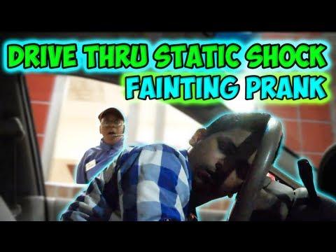 Drive Thru Static Shock Fainting Prank