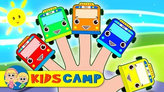 Colored Wheels On The Bus Finger Family Nursery Rhymes for Children by KidsCamp
