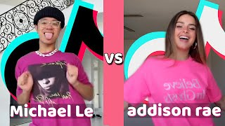 Michael Le Vs Addison Rae TikTok Compilation