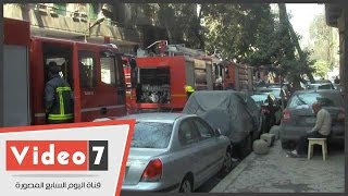 بالفيديو..4 سيارات مطافى للسيطرة على حريق فى 3 شقق بالزمالك