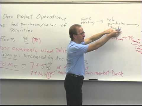 Money and Banking: Lecture 39 - Monetary Policy 1