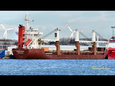 cargo crane seaship ANKERGRACHT PCQL IMO 9014872 Emden merchant vessel Kranschiff