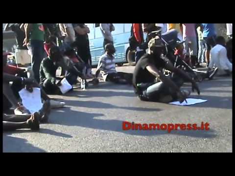 Cara di Castelnuovo di Porto. La protesta dei richiedenti asilo
