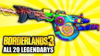 Borderlands 3  - ALL 20 NEW  Legendary Weapon Locations YOU NEED TO GO TO!